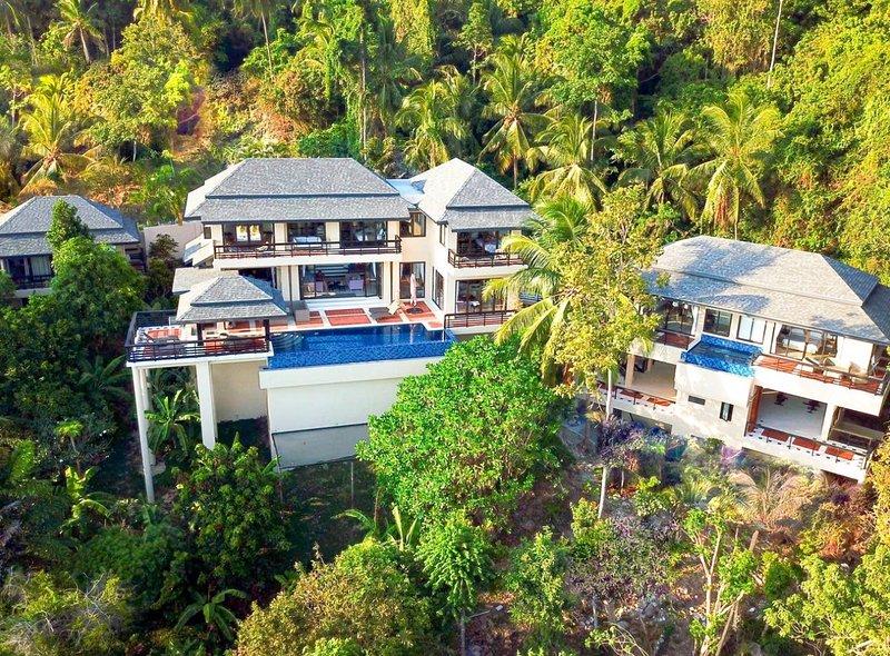 Vista Mar Samui Tranquility, Sea & Mountain Views w/Driver, vakantiewoning in Ang Thong