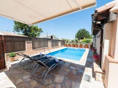 Casa familiar con piscina a 2' de la playa, casa vacanza a Mal Pas