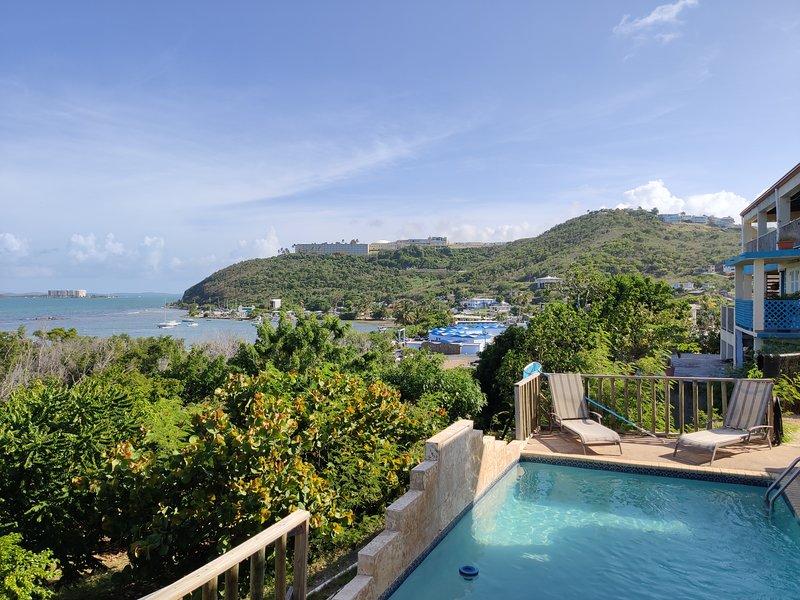 pool deck and ocean vieq of Fajardo Coast and Vieques Island
