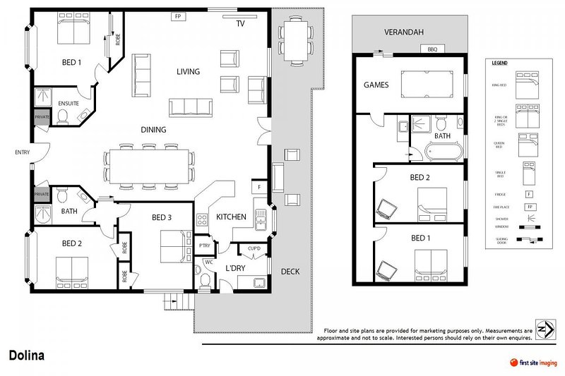Hunter Valley Accommodation - Dolina - Lovedale - Floor Plan