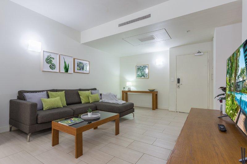 sala de estar totalmente equipada