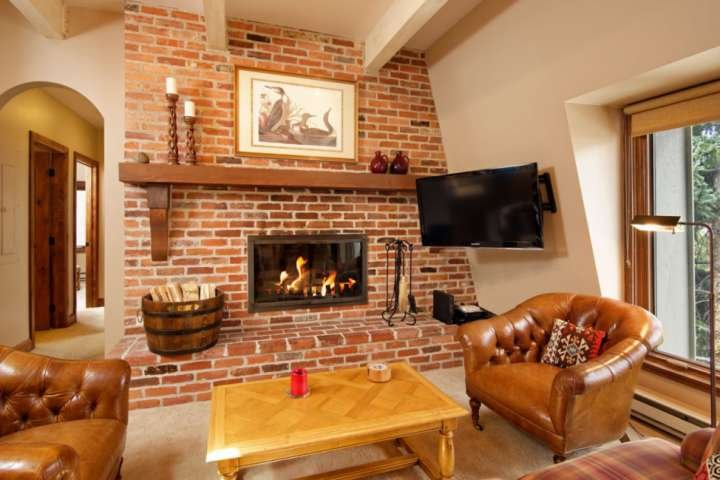 A wood burning fireplace is an enjoyable amenity during the winter or on cool summer nights in the mountains.