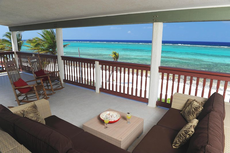Enjoy the two covered porches on each level with gorgeous ocean views.