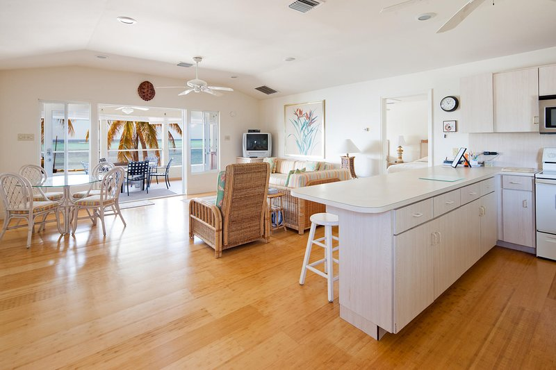 This open-concept great room was made for family vacations.