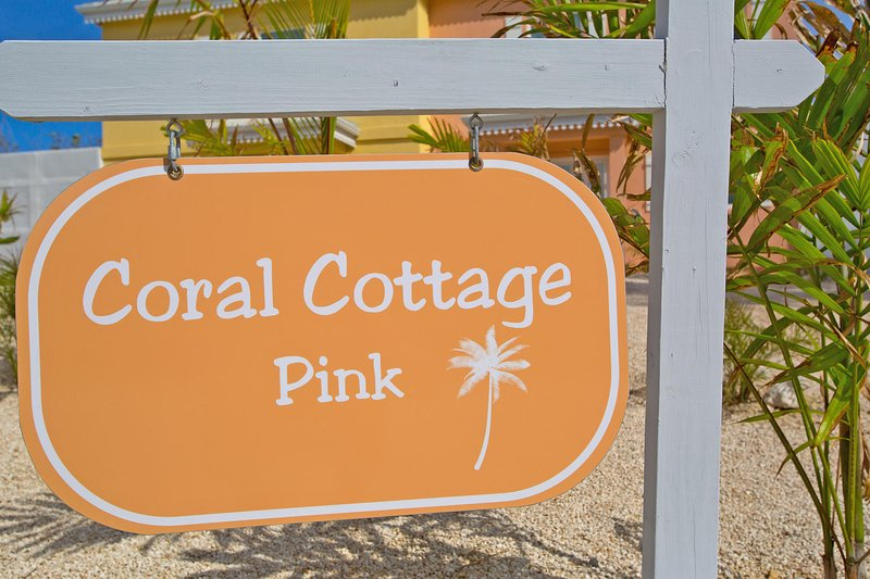 Sign welcoming you to paradise.
