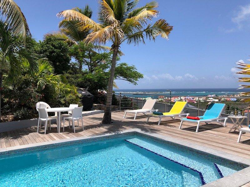 Villa Horizon St Barth ... 3BR location de vacances, colline sur Orient Bay Parc, St Martin