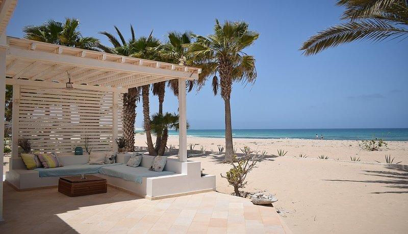 Beach house, private beach
