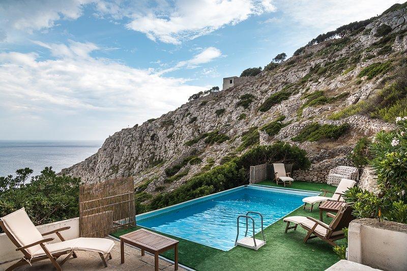 Villa On Seaside With Pool, Puglia, holiday rental in Castrignano del Capo