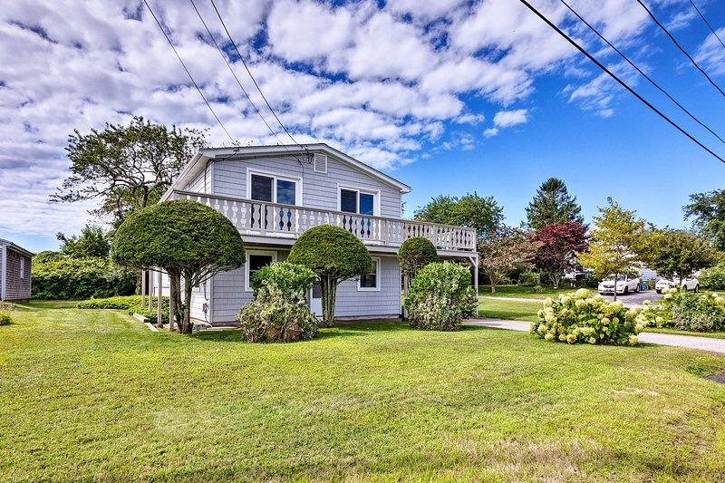 Questa casa vacanze si trova al secondo livello della proprietà.