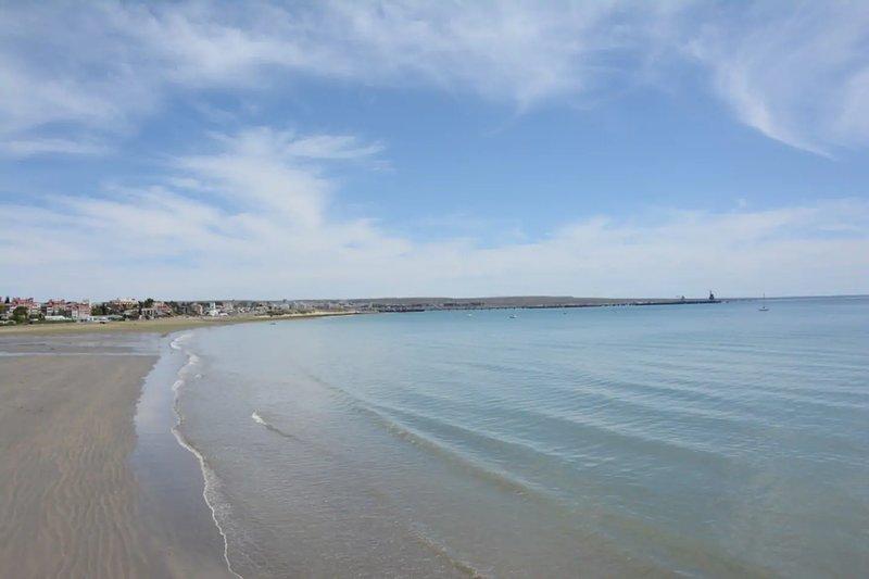 Het kleine strand van Madryn, bij Ornella.