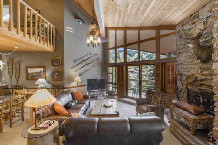 Two Full Size Leather Sofas, Gas Fireplace, Vaulted Ceilings, Slopeside Views, Private Hot Tub