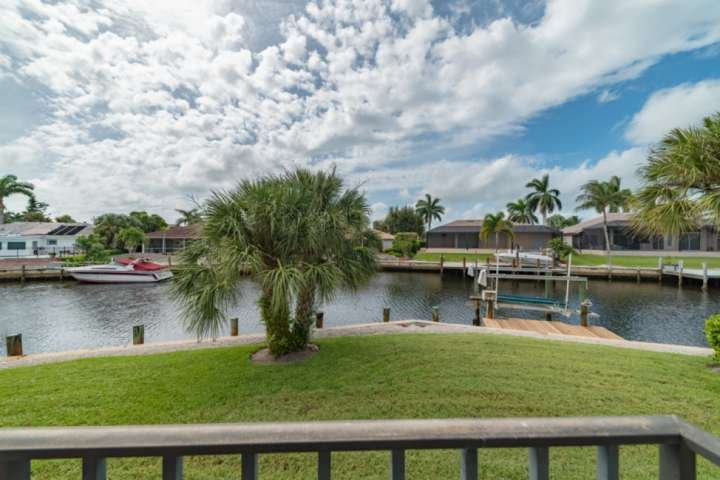 Enjoy southern exposure water views from expansive back yard.