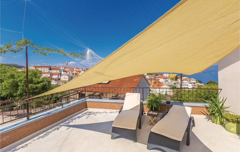 Awesome home in Vrbnik with WiFi and 1 Bedrooms (CKK858), holiday rental in Risika