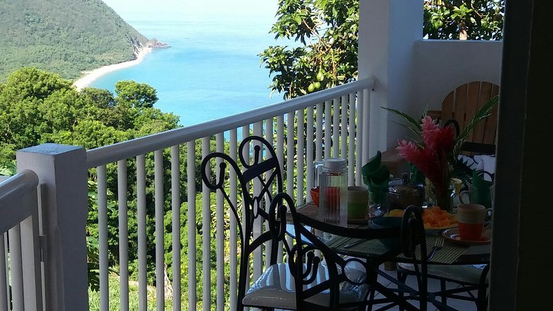 MEUBLE VUE SUR MER DESHAIES CAFEIERE, holiday rental in Rifflet