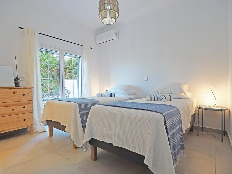 Bedroom 2 - Shown here as a twin room but can also be made up with a King Size Bed