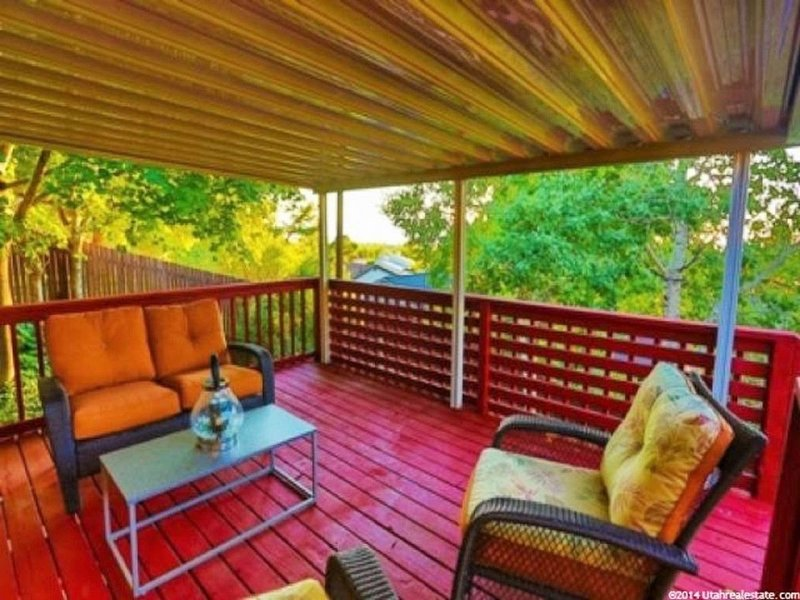 Several decks are located in the back of the house with plenty of space to relax in