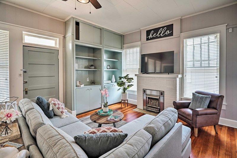 Reserve sua escapadela em San Antonio para este apartamento maravilhosamente atualizado em Tobin Hill