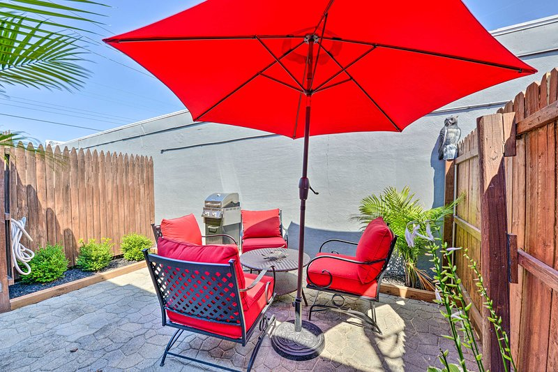 Relax on your back patio and fire up the grill to mix things up.