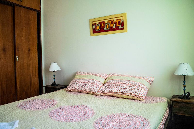 Bedroom with wardrobe, gives order and comfort