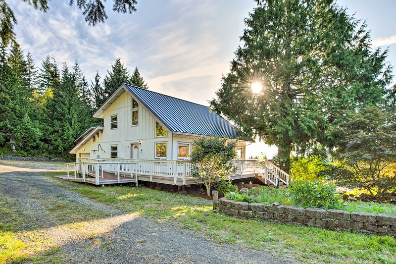 There are blackberries, apple and pear trees at this home outside Olympic NP!