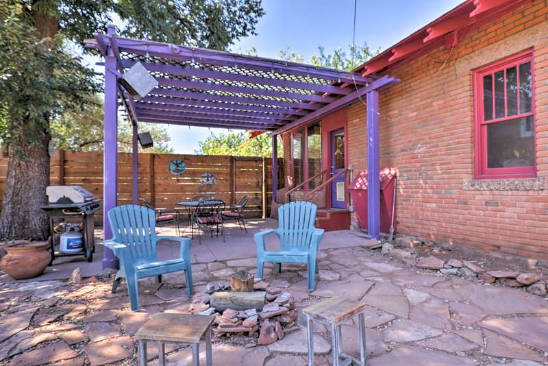 This home is just a short walk from hiking trails & downtown Kanab!