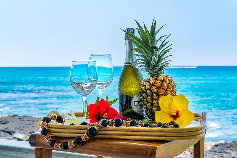 Enjoy your stay on the Lanai with the beverage of your choice!