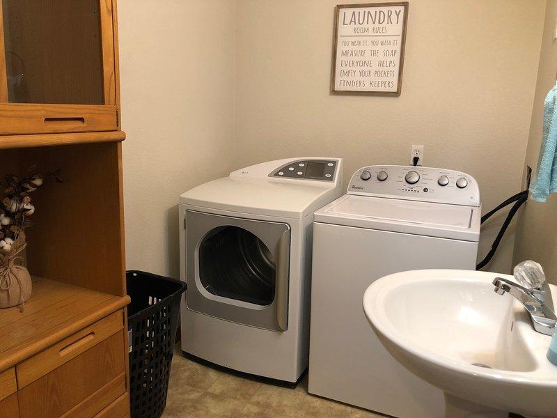 zona lavanderia nel seminterrato