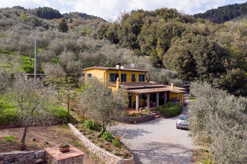 Casa Fortunato, vita di fattoria con piscina e sauna, immersa nella natura., holiday rental in Orbicciano