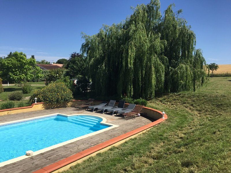 GÎTE AVEC PISCINE,14 PERS. 'DOMAINE DES VIGNES' TARN, CASTRES, REVEL, ST FERREOL, holiday rental in Damiatte