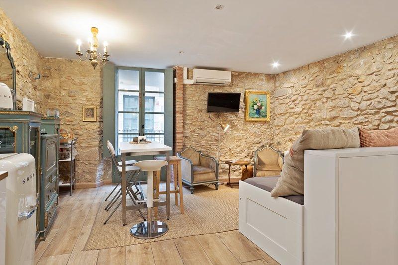 Spectacular apartment in the city center, ideal for couples, w/ air conditioning, aluguéis de temporada em Centenys