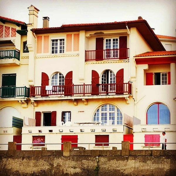 Villa seen from the beach