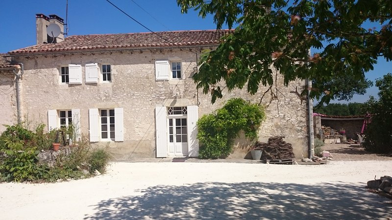 Farmhouse for 10 to 12 people surrounded by vines and with a private pool, vacation rental in Saussignac