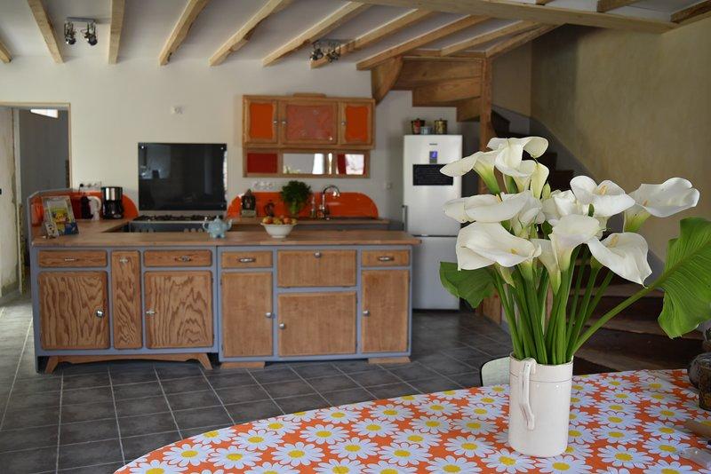 Maison entière sur corps de ferme, holiday rental in Saint-Diery