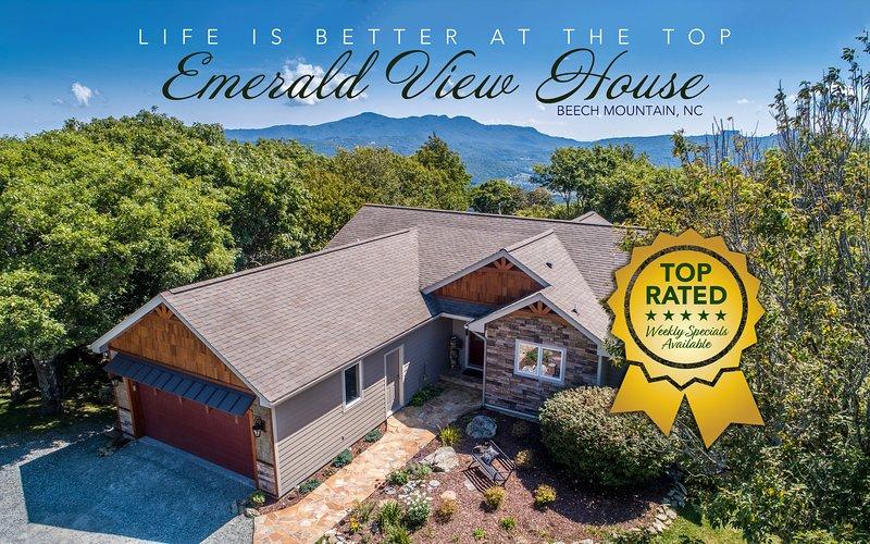 Emerald View House /Level Entry, Amazing Mountain Views & Perfect Location, location de vacances à Beech Mountain