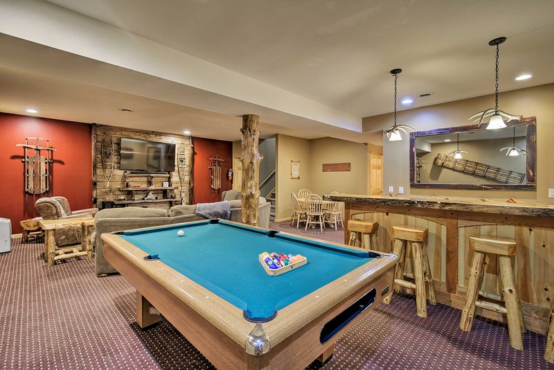 The vacation rental home boasts a game room!