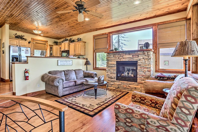 Book a trip to this lavish vacation rental cabin in Lead!