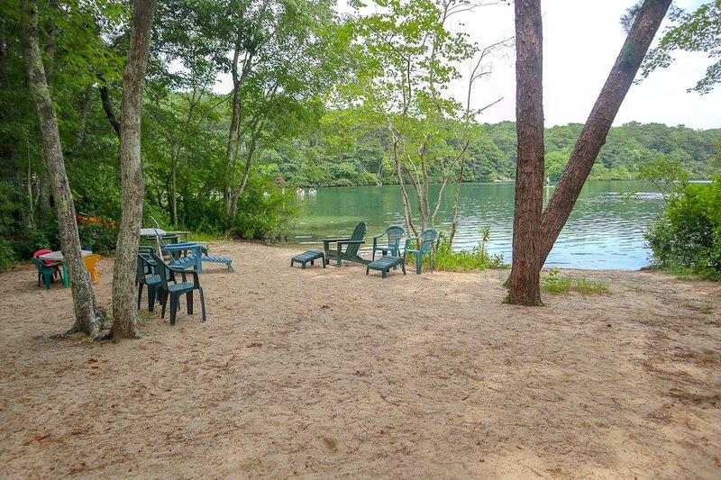 Belle grande plage privée sur Sheep's Pond