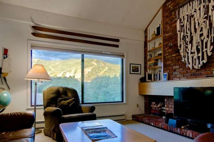 Häng ut i vardagsrummet med fantastisk utsikt över berget