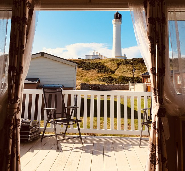 87 Lighthouse View Lodge Lossiemouth, casa vacanza a Moray