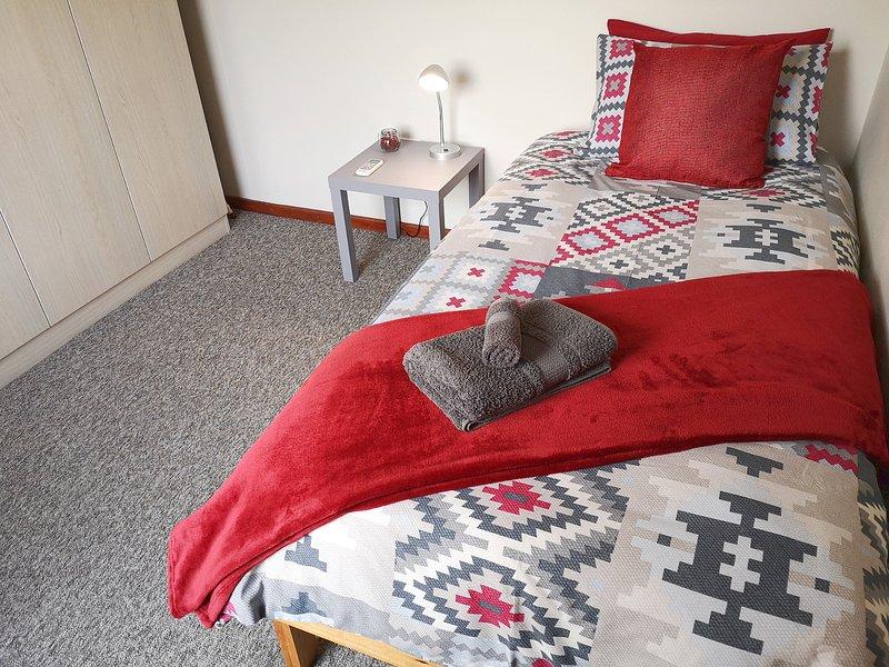 Slaapkamer 2, voorbereid voor een gast
