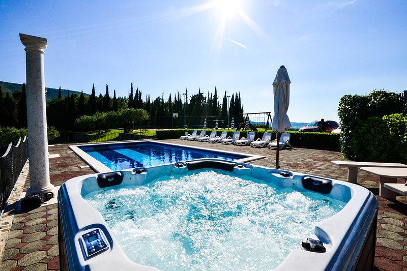 Villa Milicic with pool,sauna,gym and tennis, football & basket court, holiday rental in Zastolje