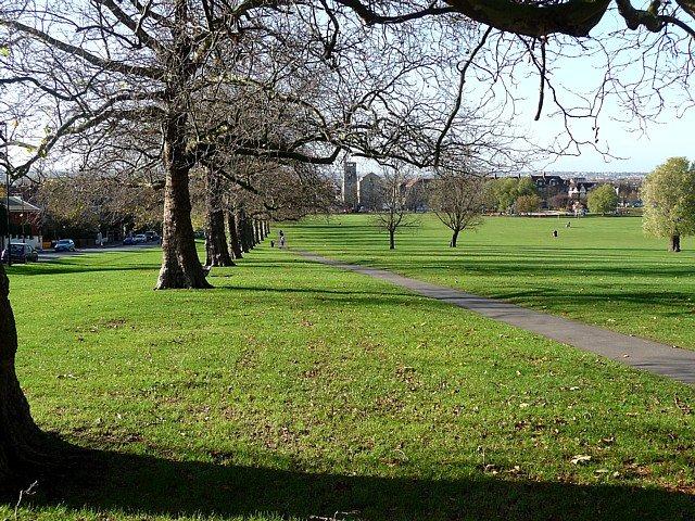 Streatham Common Park, justo al otro lado de la propiedad