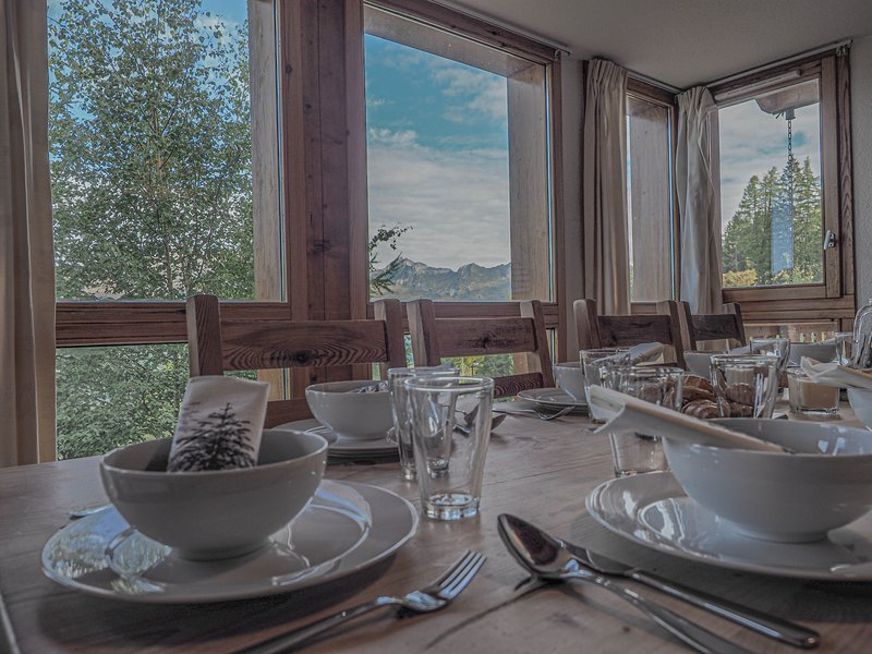 12p detached chalet with stunning views and directly on the piste!, holiday rental in Peisey-Vallandry