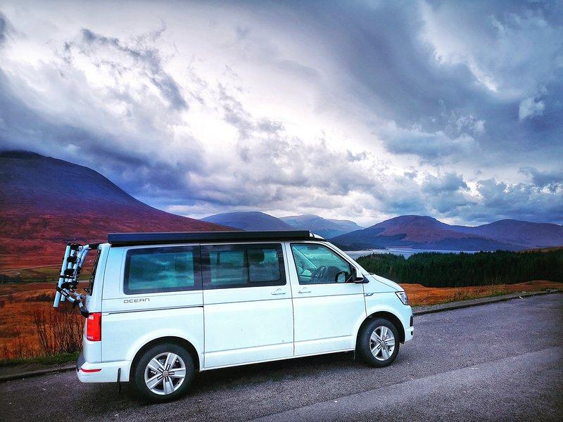 VW T6 Campervan Hire Scotland - Classic Camper Holidays - Harris, location de vacances à Ettrick