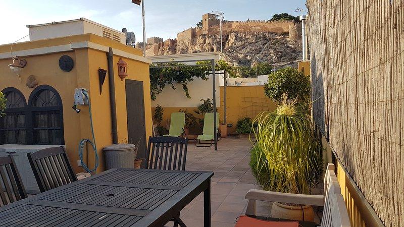 Terrace of the house overlooking the Alcazaba