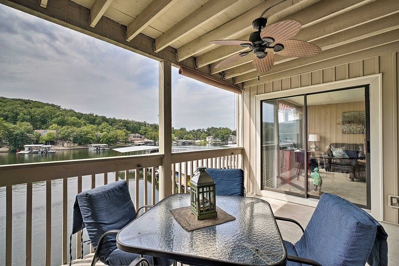 Osage Beach Waterfront Condo w/ Amenities!, holiday rental in Tuscumbia