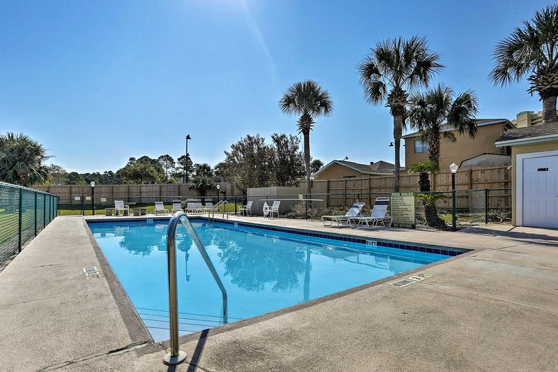 Enjoy the attractions of Panama City Beach or simply dip int he community pool!