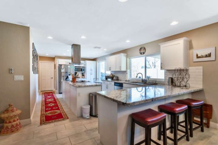 Since the kitchen is the heart of the home you will enjoy preparing your meals here