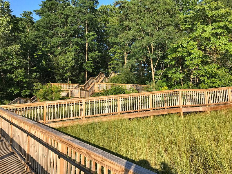 West Side County Park stairs/ramp to public beach access