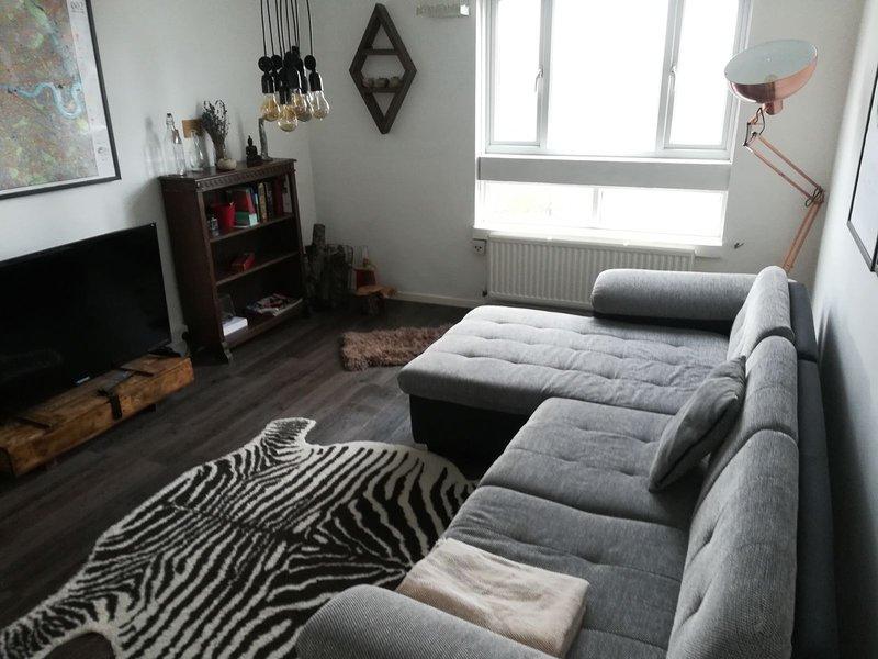 Sala de estar y sofá cama